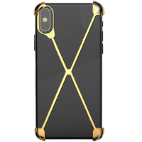 Metal Bumper Case for iPhone XS , Slim Heavy Duty Armor Shockproof Aluminum Alloy X Frame Phone Bumpers Protective Shell