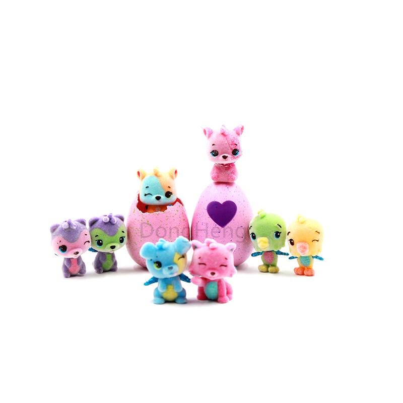 8 unids/lote Magic Surprise Hatching Edición Limitada muñeca Hatch Animal puzle crew huevos creativos juguetes acción figura Día de los niños