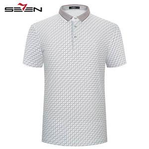 f7d0485909d9b Seven7 Mens Slim Casual Short Sleeve Cotton Polo Shirts