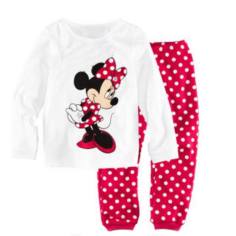 Детские пижамы с героями мультфильмов для девочек одежда сна малышей комплекты