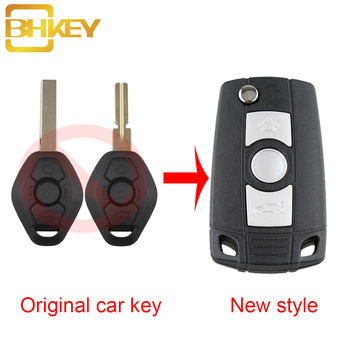 BHKEY 3Buttons Remote Car key shell Case For BMW HU92 or HU58 Blade For BMW 3 5 7 SERIES Z3 Z4 E38 E39 E46 New style key Case image