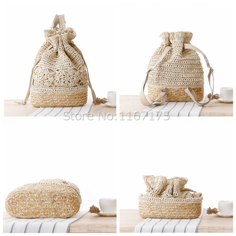 Aliexpress.com : Buy Handmade Crochet Backpacks Women's beach ...
