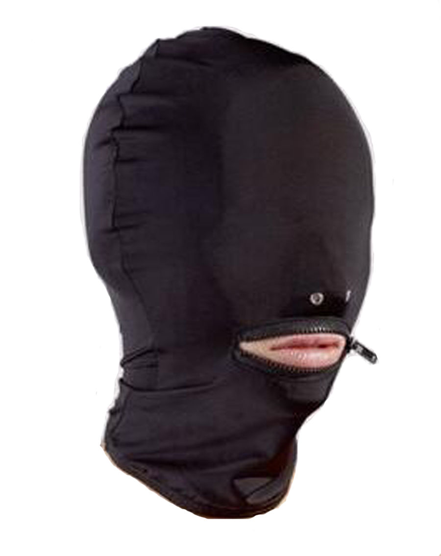Leather Wet Look Full Head Bondage Hood ,Mouth Nose Hole Mask,BDSM Bondage,Adult Sex Toys For Couple