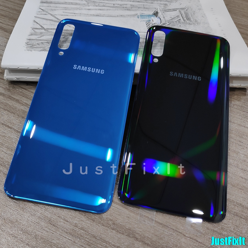 Replace Battery Cover For <font><b>SAMSUNG</b></font> <font><b>Galaxy</b></font> <font><b>A50</b></font> 2019 SM-<font><b>A505F</b></font> A505 SM-<font><b>A505F</b></font> Back Battery Cover Door Rear Housing Case image