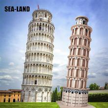 цена на 3D Diy Wooden Puzzle Toys For Family Game Leaning Tower Of Pisa Educational Puzzle For Adults Montessori Toy Hobby Gift For Kids