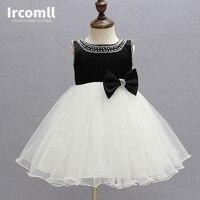 Formal Princess Bow Sleeveless Beach Wedding Flower Girl Dresses White Flower Girl Dresses For Weddings