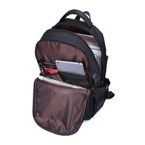 Image 5 - 男性バックパックの学校のバックパック旅行バッグ通学ショルダーバッグ子供のため bagback 黒のラップトップバッグ 15.6