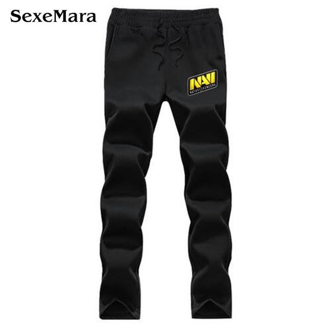 Série Sweatpants Casual Natus Vincere NAVI DOTA2 Logotipo Impresso Moda Calças Exercício Fleece Solta Maré Homens Calças Compridas