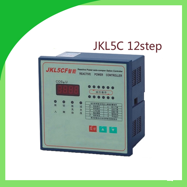 JKL5C power factor corrector reactive power auto-compensation controller for capacitor 12step 380v PRCF jkw5c 12 power factor regulator compensation controller for power factor capacitor 12steps 380v