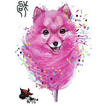Cute Pink Dog Tattoo Designs Chinese Zodiac Waterproof Temporary Tattoo Stickers