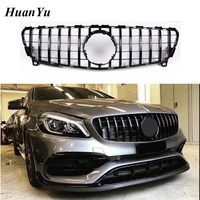 W176 Facelift GT Grille for Mercedes Benz A class Replacement ABS Front Racing Grill A200 A45 A250 2016 2018