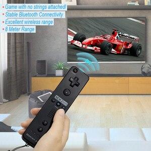 Image 2 - תנועה בתוספת אלחוטי מרחוק Gamepad בקר עבור Nintend Wii מרחוק Controle ג ויסטיק Joypad