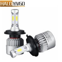 1Pair H4 9003 LED Car Headlight Bulb Hi Lo Beam COB 72W 8000LM Car LED Headlights