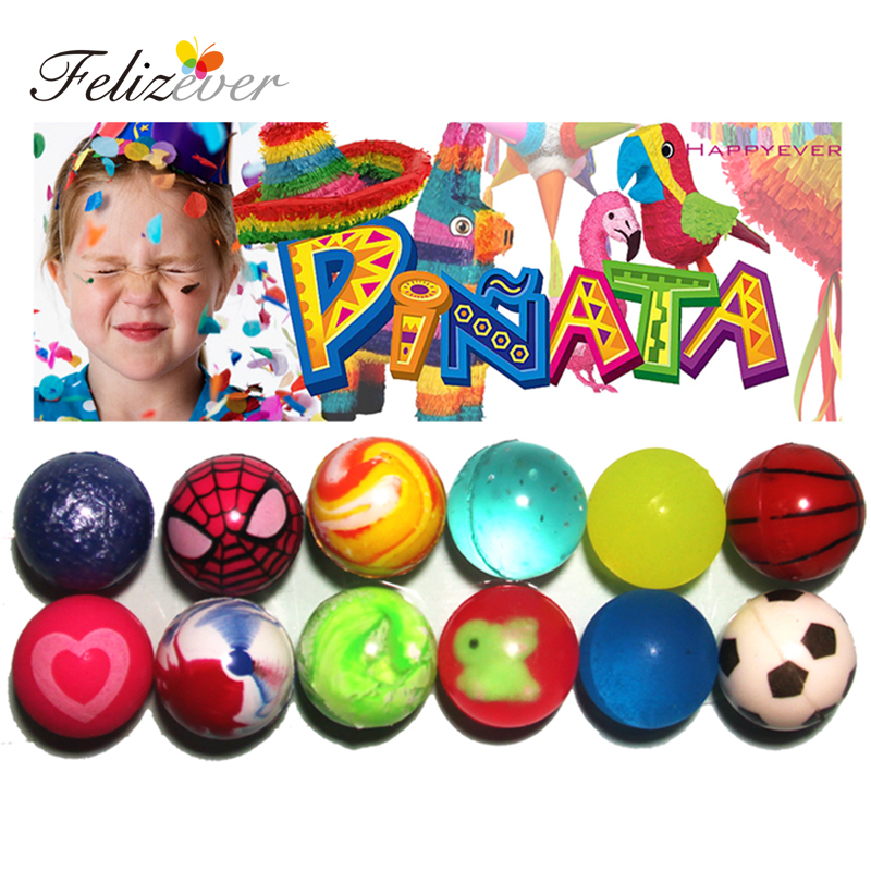 bouncy balls childrens party bags favors hi-bounce stocking filler