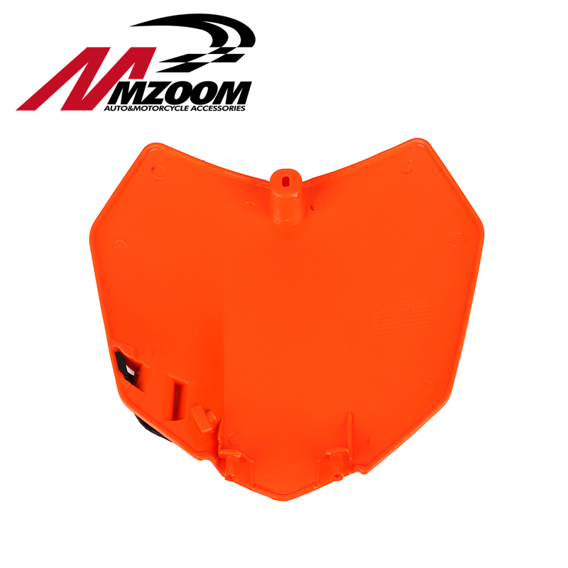 free shipping White Orange Plastic Front Name Number Plate For KTM 2013-15 SX SXF XCF 125 250 350 450 land Bike Motocross motorcycle front rider seat leather cover for ktm 125 200 390 duke