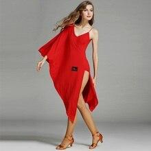 Red latin ballroom dress modern dance costume samba rumba latin dress Latin dance dresses for women