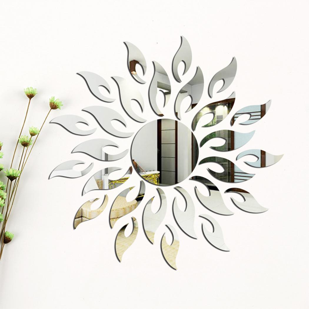 Diy Mirror Tv Cabinet: Sticker Sun Art Pcs/Set 27 Etc Cabinet Mirror TV Room