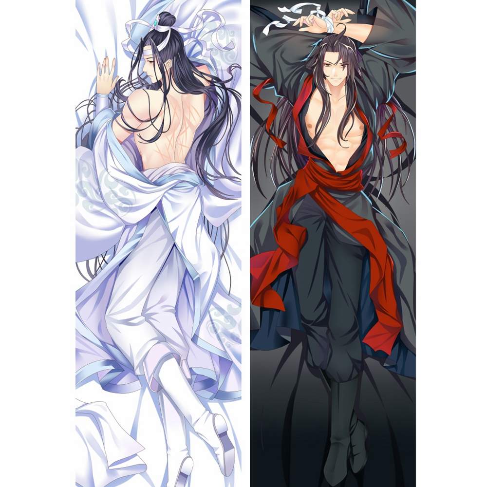 China Anime Mo Dao Zu Shi Dakimakura Sexy Body Pillowcase Wei Wuxian Lan Wangji Grandmaster Of Demonic Cultivation Pillow Case