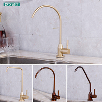 Champagne and bronze color pure drinking water filter faucet for kitchen