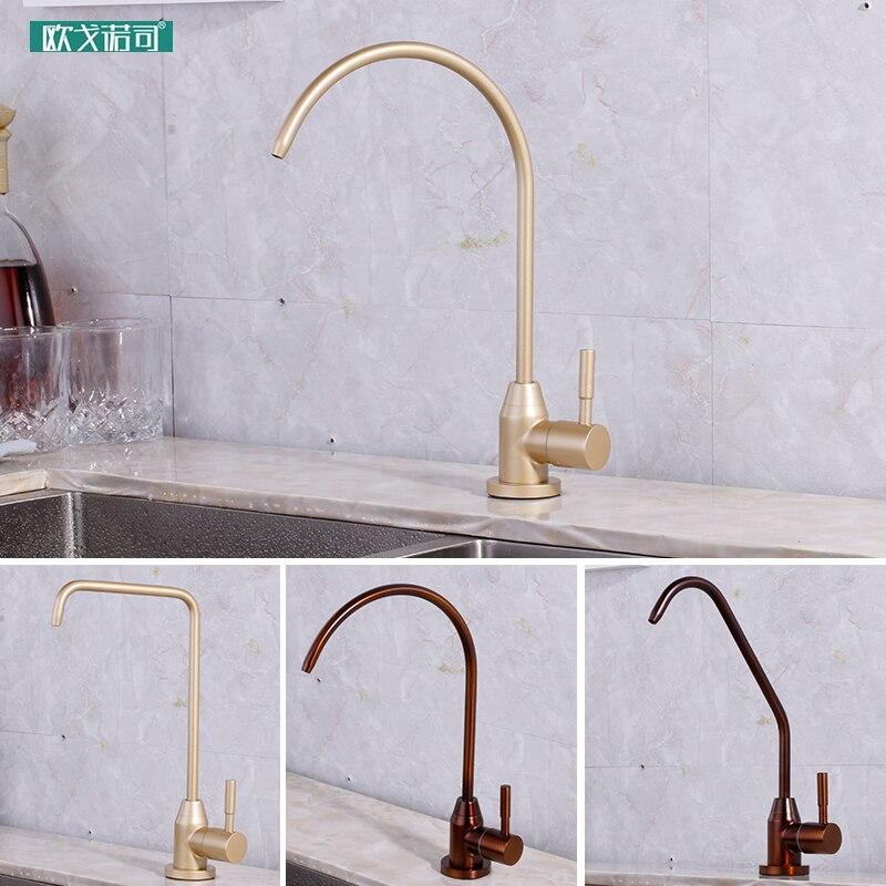 Robinet de filtre à eau potable pure couleur Champagne et bronze pour cuisine
