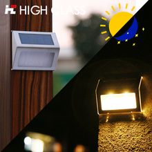 5F High Class Good Quality Stainless Steel Outdoor Rainproof Garden Decorate Wall Lamp Stair Lamp LED Solar Step Light