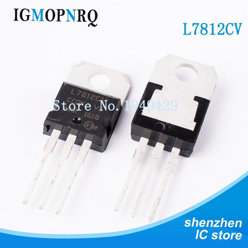 20PCS/Lot New Original L7812CV L7812 7812 Triode TO-220 12V 1.5A Voltage Regulator