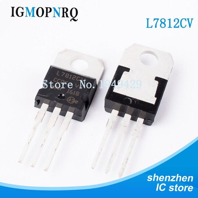 20PCS/Lot New Original L7812CV L7812 7812 Triode TO 220 12V 1.5A voltage regulator