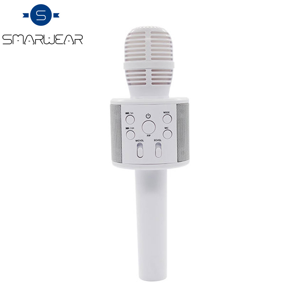 Wireless Karaoke Q858 Bluetooth KTV HIFI Speaker Singing Record meeting Microphone Speaker Echo Mixer Condenser with Mic