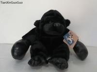 about 28cm lovely black orangutan plush toy cartoon boxing orangutan soft doll toy birthday gift w2009