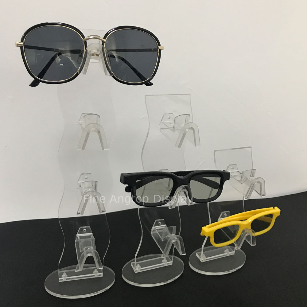 Detachable Sunglasses Eyeglasses Display Rack Acrylic Frame Eyewear Glasses Counter Stand Holder wood glasses frames carter sunglasses 2018 wooden sunglasses men clear gold retro fill prescription eyeglasses frame shades mens