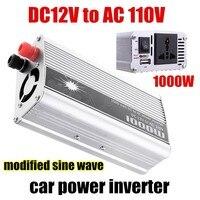 Ładowarka samochodowa USB Zmodyfikowana Sine Wave Hurtownie 1000 W DC 12 V do AC110V Napięcia Transformatora Przetwornicy Zasilania Samochodów