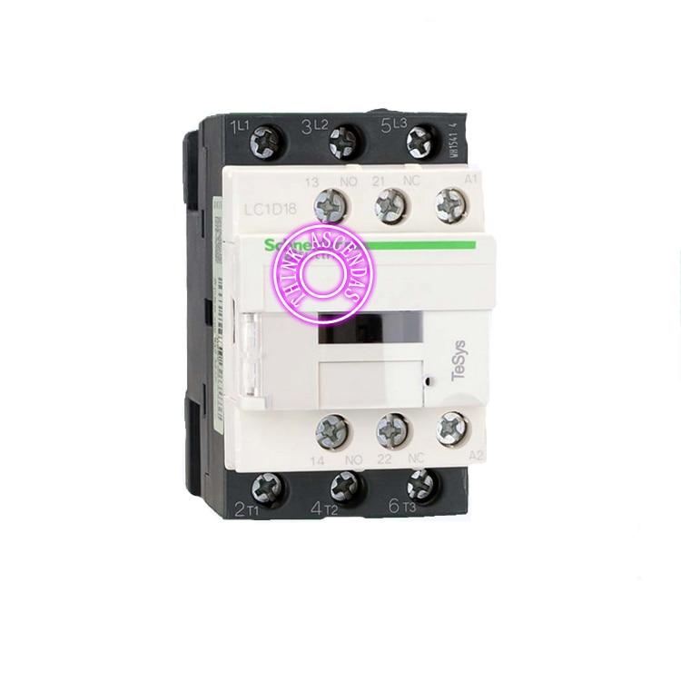 LC1D Series Contactor LC1D18 LC1D18KDC 100V LC1D18LDC 200V LC1D18MDC 220V LC1D18NDC 60V LC1D18PDC LC1D18QDC LC1D18ZDC 20V DC new cad50bdc dc24v tesys d series contactor control relay 5no 0nc