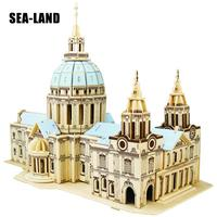 Diy Kids Toy Of 3D Wooden Puzzle For Children And Adult St.Paul's Cathedral A Quality Montessori Educationaly Toy As Hobby Gift
