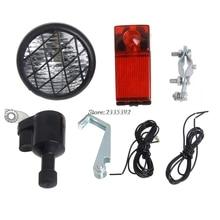 (QILEJVS)Motorized Bike Bicycle Friction Generator Dynamo Head Tail Light Acessories APR14_17