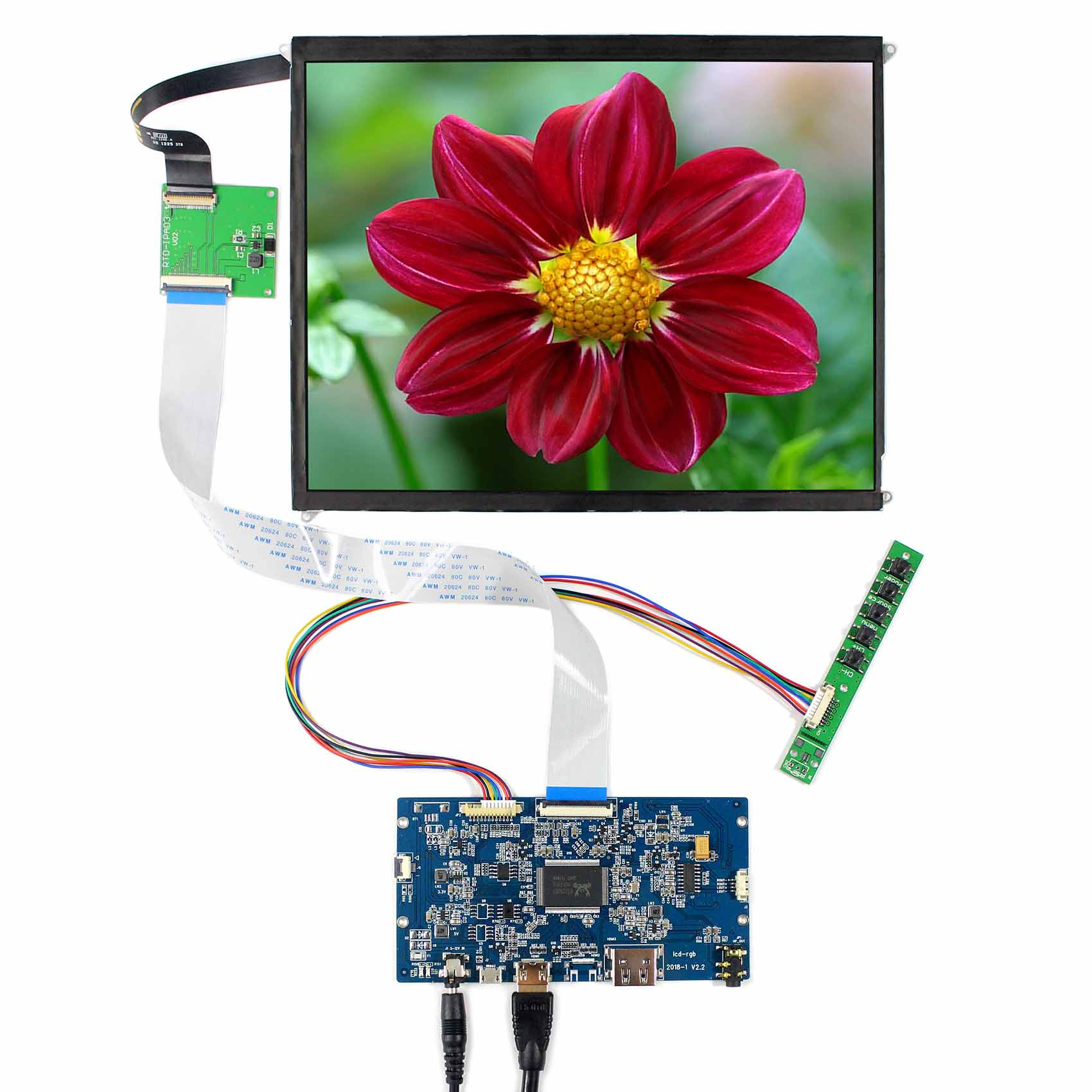 9.7inch LP097QX1 2048x1536 LCD Screen With HDMI LCD Driver Board9.7inch LP097QX1 2048x1536 LCD Screen With HDMI LCD Driver Board