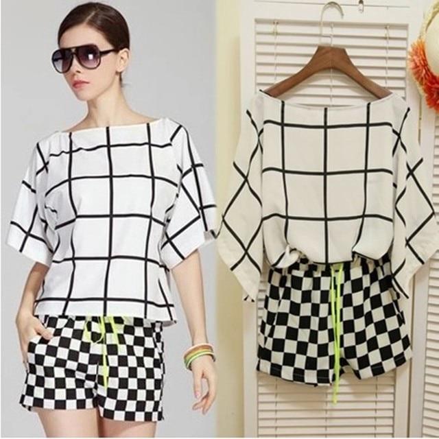d59ea423880 Venta caliente nueva moda 2019 plus tamaño blusa de las mujeres +  pantalones cortos de verano