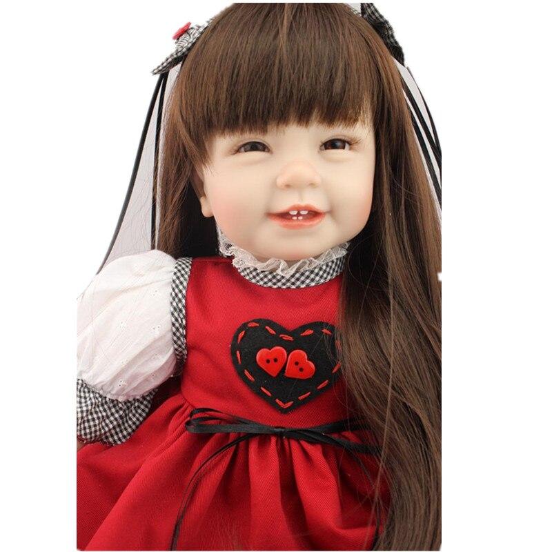 2016 22inch 55cm Silicone Baby Reborn Dolls Christmas