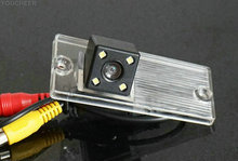 For KIA SPORTAGE Rear view camera With Parking Line Waterproof Night Vision 4LED CCD back up