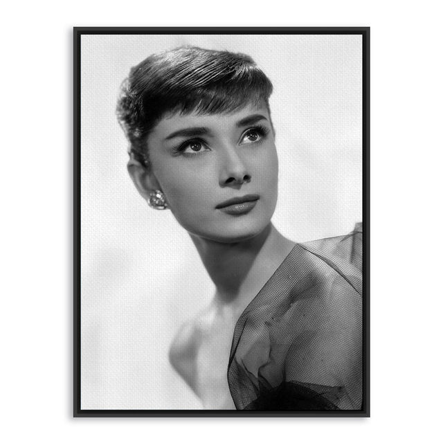 Online Shop Audrey Hepburn Black White Photo Vintage Poster Print ...