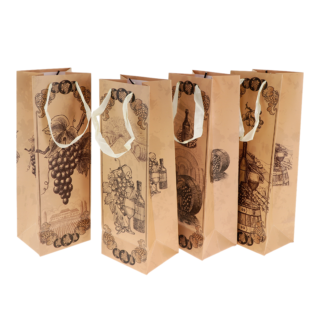 12 Pieces Wine Gift Bags Wedding Birthday Christmas Present Bags Packaging