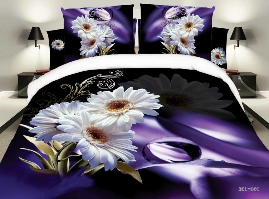 Unihome Home Textiles,3D bedding sets, 4Pcs of duvet cover bed sheet pillowcase,bedclothes,Free shipping