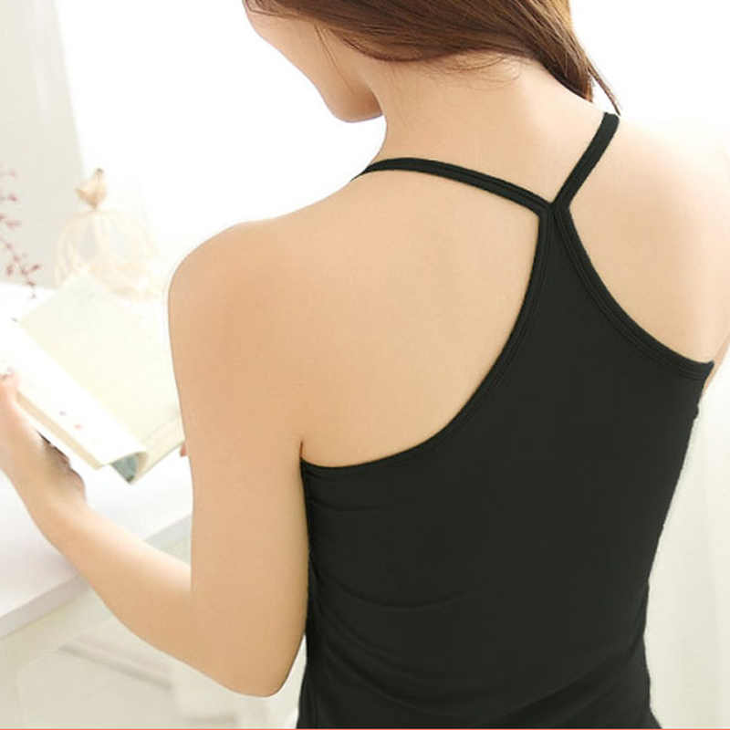 90% Cotton Spring Summer Tank Tops Women Sleeveless T Shirt Ladies Vest Singlets Camisole Cotton Slim Ladies Thin Vest