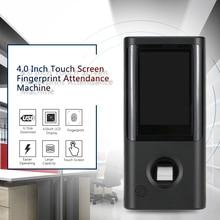 Машина посещаемости времени отпечатка пальца работник проверка в диктофон TCP/IP 4,0 дюймовый сенсорный экран DC 5 V часы-Регистратор посещений