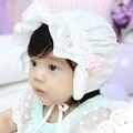 Moda Cap Chapéu de Sol de Bolinhas Chapéu Gorro Do Bebê Recém-nascido Da Menina do Menino bonito Rosa Branca Verão Boné Legal Para Bebê 2 A 12 Meses