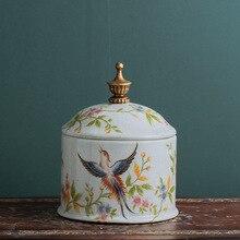 Candy jar retro-nostalgia European ceramic sealed tea creative household sundry storage