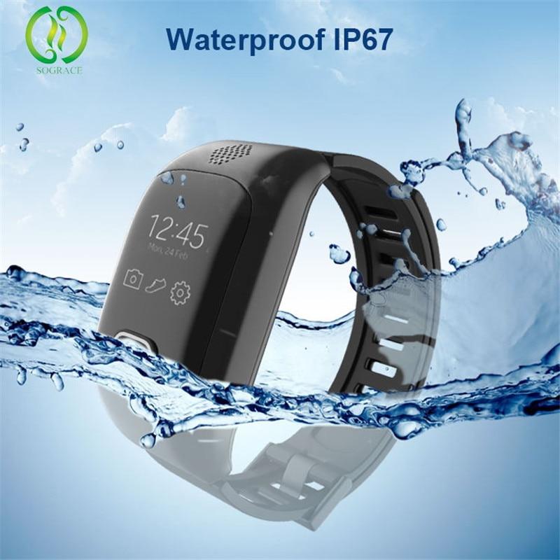 SOS Button Senior Heart Rate Blood Pressure Smart Watch Bracelet Emergency SOS Elderly Two Way Speaking GPS Watch Locator Elder