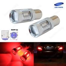 2x BAW15d 567 PR21/5W Bulbs SAMSUNG 15W LED Tail Stop Brake Rear Fog Light Red(CA317)