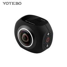 Vr панорамный HD 360 Камера ручной виртуальной реальности видео Wi-Fi Fisheye Двойной объектив 2.7 К 25fps Спорт Камера для Android/ IOS