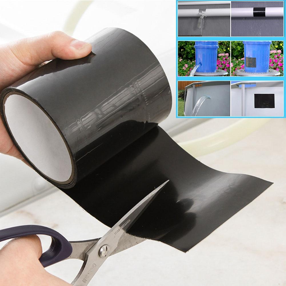 150x10cm Super Strong Fiber Waterproof Tape Stop Leaks Seal Repair Tape Performance Self Fix Tape Flex Tape Adhesive Tape