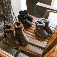 Bavoirsj Größe 7,5-11,5 Neue Ankunft Winter Warme Pelz Fuß Plattform Kurze Booties Babyschuhe Mode kinder Casusal schuhe